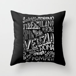 Italia mia Throw Pillow