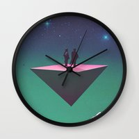philosophy Wall Clocks featuring 'Dream of Philosophy'  by Thom Easton