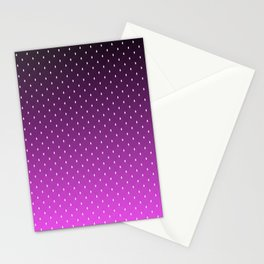 """Purple to Black Ombre on  """"White House Diamond"""" Pattern Stationery Cards"""