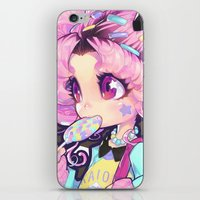 chibi iPhone & iPod Skins featuring chibi by barachan