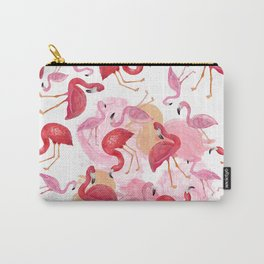 Watercolor Flamingos Carry-All Pouch