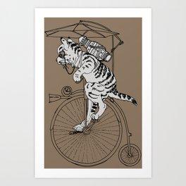 Steam Punk Tabby Cat Art Print