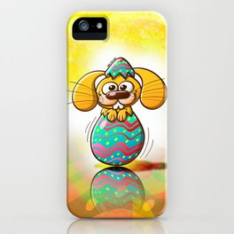The Birth of an Easter Bunny iPhone Case