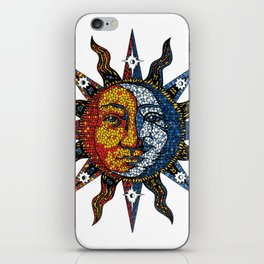 Celestial Mosaic Sun and Moon iPhone Skin