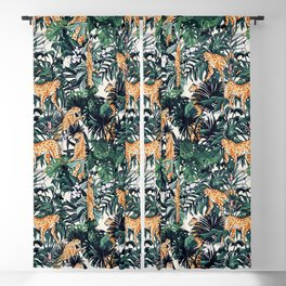 Cheetah in the wild rainforest Blackout Curtain