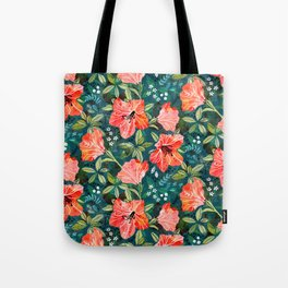 Vibrant Rhododendrons Tote Bag