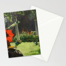 Charles Courtney Curran - Afternoon in the Cluny Garden, Paris Stationery Cards