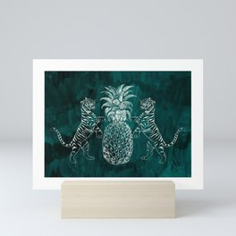 Bandipur (on Dark Jungle Green) Mini Art Print