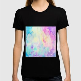 Watercolor Abstract Landscape Blue and Purple T-shirt