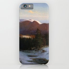 Mount Lafayette In Winter 1870 By Thomas Hill | Reproduction iPhone Case