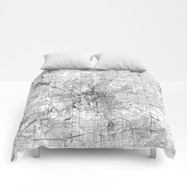 Indianapolis White Map Comforters