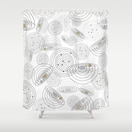 Cosmic in White II Shower Curtain