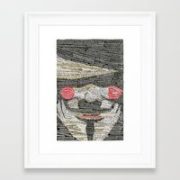 anonymous Framed Art Prints featuring Anonymous by hopedso