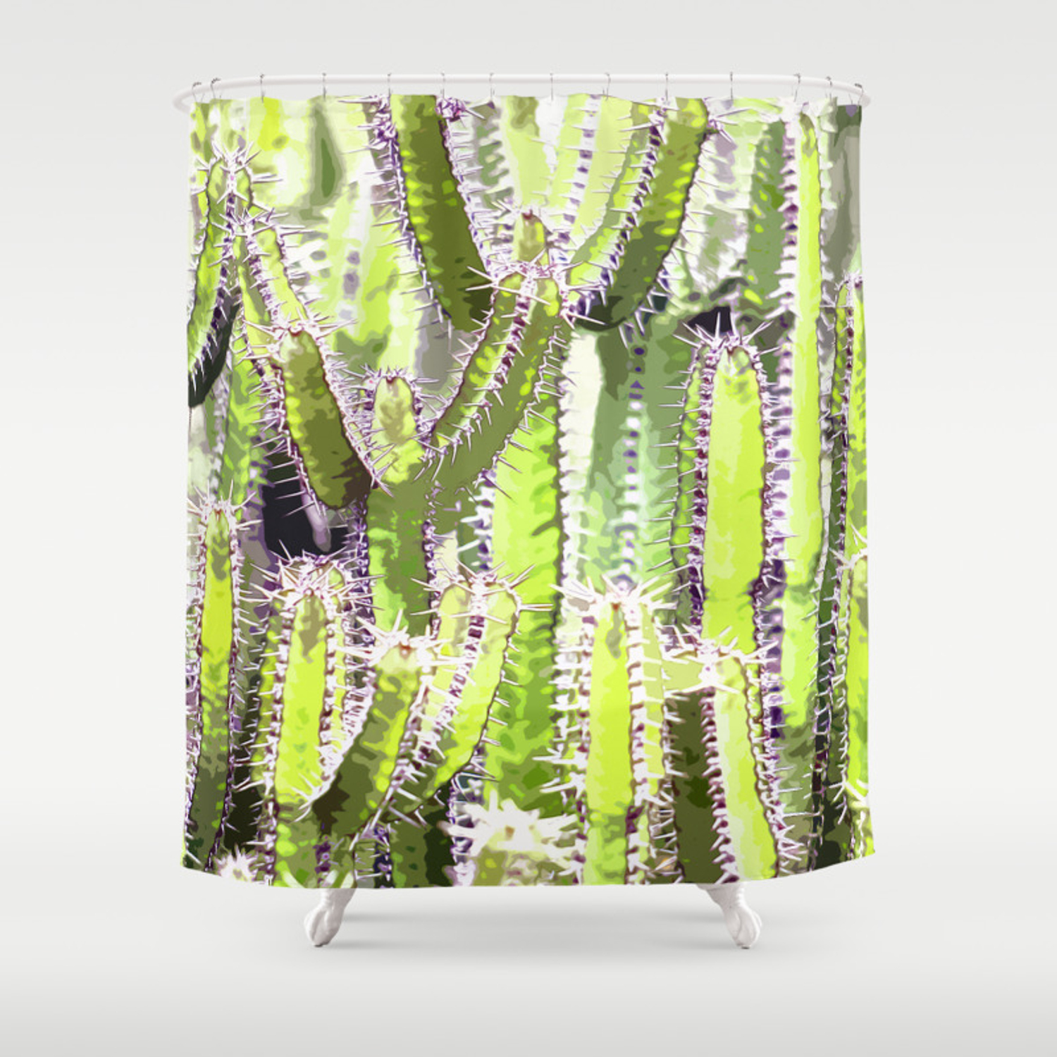 Cactus Of Desert Plants Shower Curtain By Muchamadwahid Society6