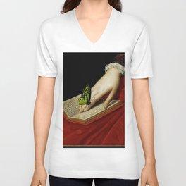 Gentle Reader Cropped Art Unisex V-Neck