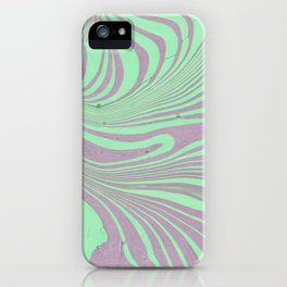 Violet mint green abstract watercolor marble iPhone Case
