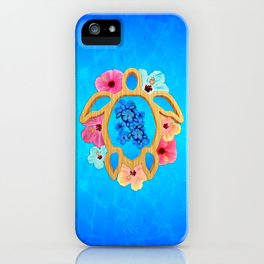 Hawaiian Blue Honu Sea Turtle iPhone Case