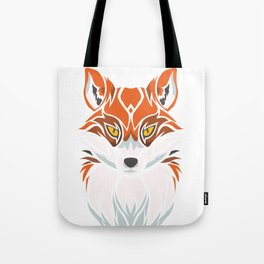 Tribal Fox - Wild Animal Art - Exotic Animals Tote Bag