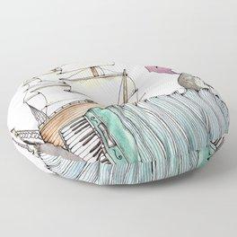 Accordion Sea Floor Pillow