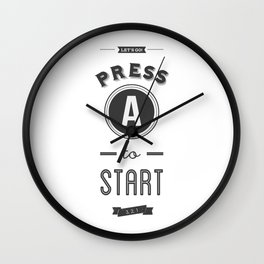 Press A to Start Wall Clock