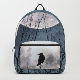 Crow In The Light Of A Glowing Moon Backpack