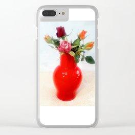 Rose in vaso Venini. Roses in the Venini vase. Clear iPhone Case