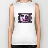 cheshire cat Biker Tanks featuring Cheshire Cat by AKIKO