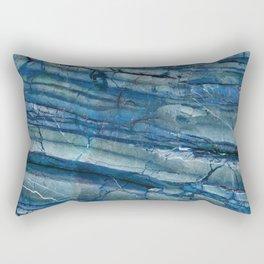 Ocean Depths Blue Marble Rectangular Pillow