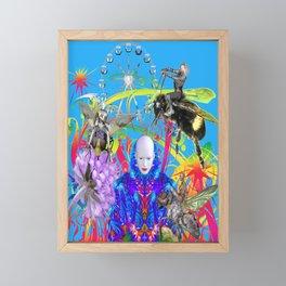 Fairground Garden Framed Mini Art Print