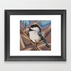 Chickadee 4 Framed Art Print