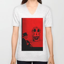 Salvador Dali with Women Skull (Photographic Art) Unisex V-Neck