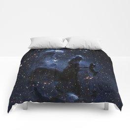galAXY : Dark Blue Pillars of Creation Comforters