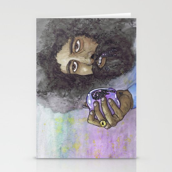 """Reggie Watts"" by Cap Blackard Stationery Cards"