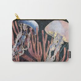Metallic Coral Carry-All Pouch