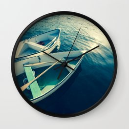 On the Water - Boats Wall Clock
