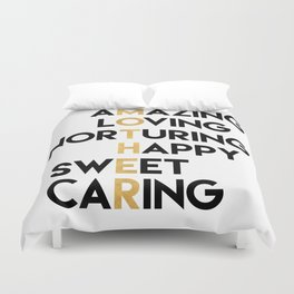 DEAR MOTHER Mothers Day quote Duvet Cover