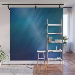 Jelly Bean & Blue Shades Metallic Pattern Wall Mural