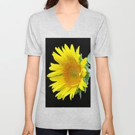 Small Sunflower Unisex V-Neck
