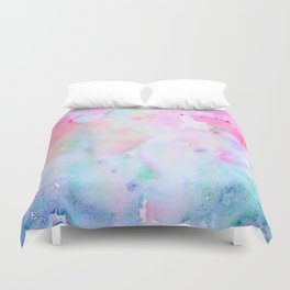 Watercolor Abstract pink Forest Duvet Cover