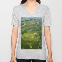 Landscape 1 Mountains Farm Unisex V-Neck