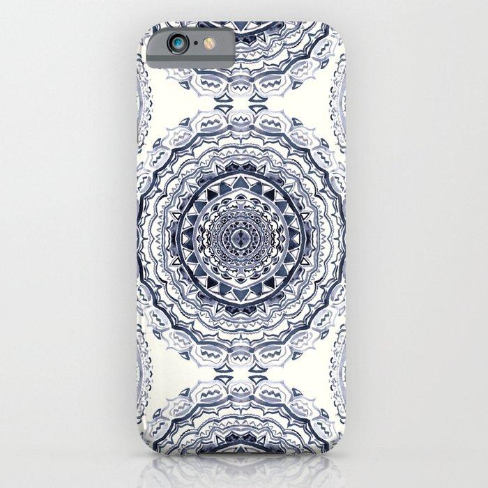 supernova-in navy, dark blue, & grey iphone case