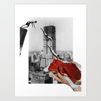 metropolis Art Prints featuring Metropolis by Lerson