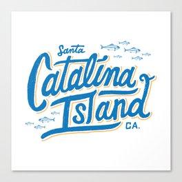 Catalina Island White  Canvas Print