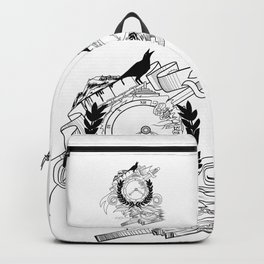 End Of Time - Black & White Backpack