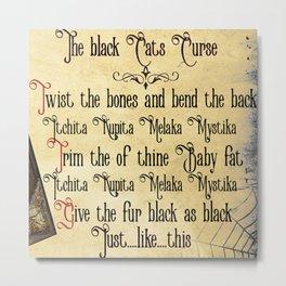 Black Cat Binx Curse Metal Print