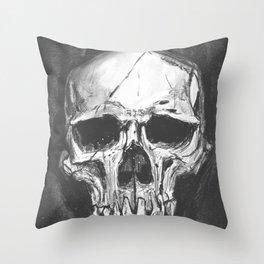 Skull Study Throw Pillow
