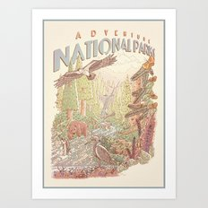Adventure National Parks Art Print