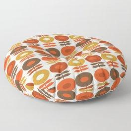 Primo - 70s style retro florals minimal 1970s trend flower Floor Pillow