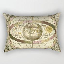 Antique Geometric Univers Zodiac Sign Rectangular Pillow