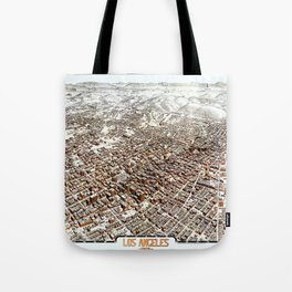 LOS ANGELES CALIFORNIA city old map Father Day art print poster Tote Bag